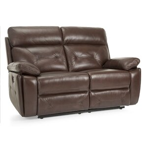 Krafton Leather Reclining Loveseat by Red Barrel Studio