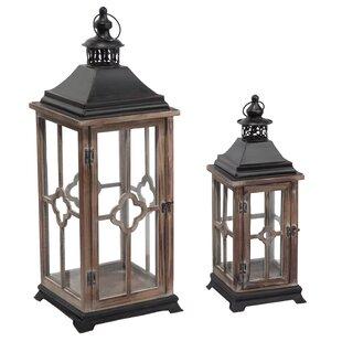 2 Piece Wood And Metal Lantern Nice Ideas