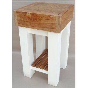 Kücheninsel Butcher mit Holzplatte von Home Lof..