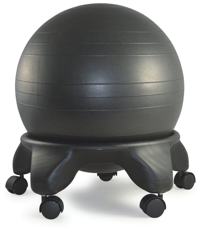 Stability Ball Office Chair Size: SierraComfort Exercise Ball Chair & Reviews