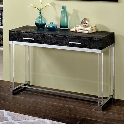 Fugate Console Table Everly Quinn Table Top Color: Black