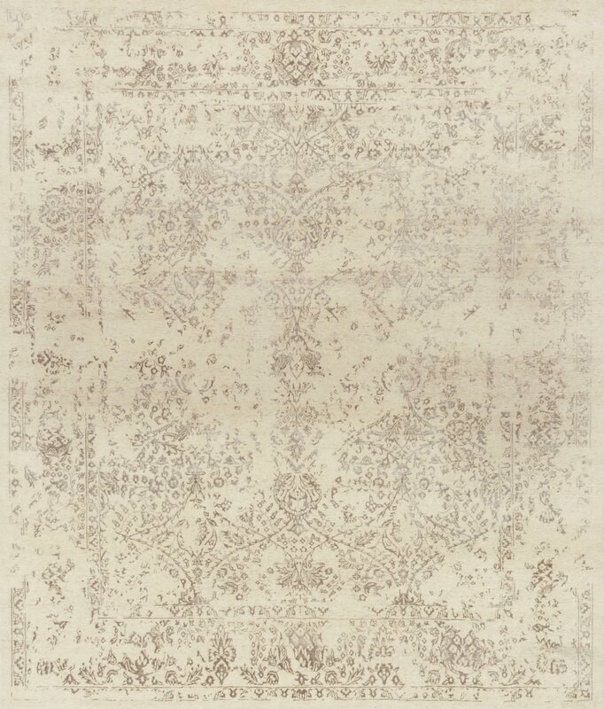 Colson Hand Knotted Antique Ivory Taupe Area Rug