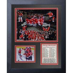 Trademark Gameroom 2015 Stanley Cup Champs Chicago Blackhawks Framed Logo Mirror