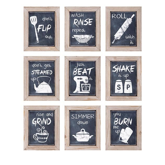 9 piece kitchen inspirations wall decor - Kitchen Wall Art