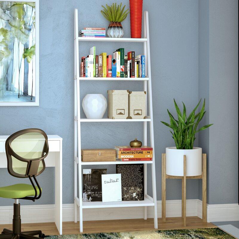zipcode design ranie ladder bookcase & reviews   wayfair Ladder Shelf Nightstand