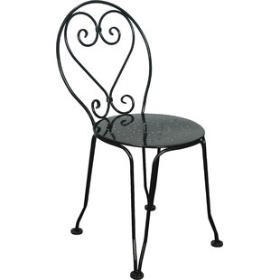 French Cafe Bistro Ice Cream Parlor Stacking Patio Dining Chair (Set Of 2)