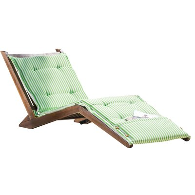 Bay Isle Home Antonetta Chaise Lounge with Cushion Color: Green/Sage