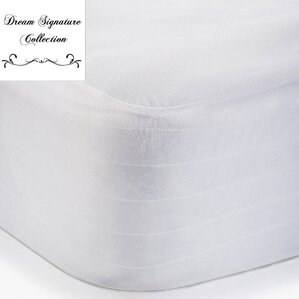 Viscose Rayon from Bamboo Jersey Hypoallergenic Waterproof Mattress Protector by Alwyn Home