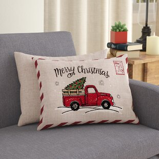 Red Truck Christmas Pillow Wayfair