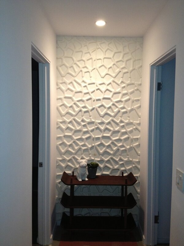 Hive Wall Flat 18 X 18 Quot Geometric 3d Embossed Wallpaper