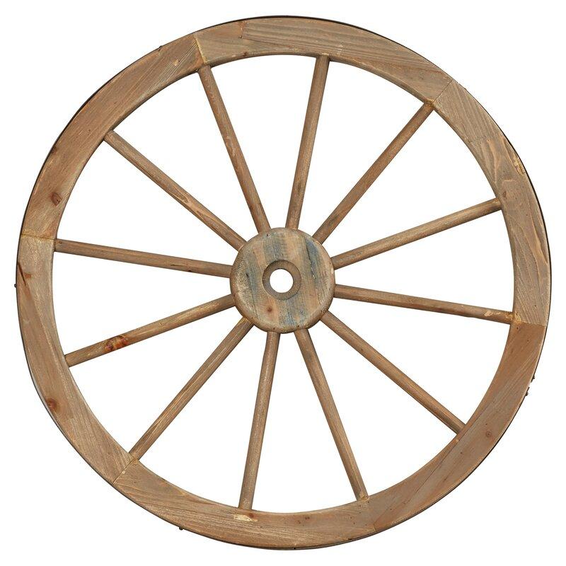 Wagon Wheel Wall Decor august grove metal wagon wheel wall decor & reviews | wayfair