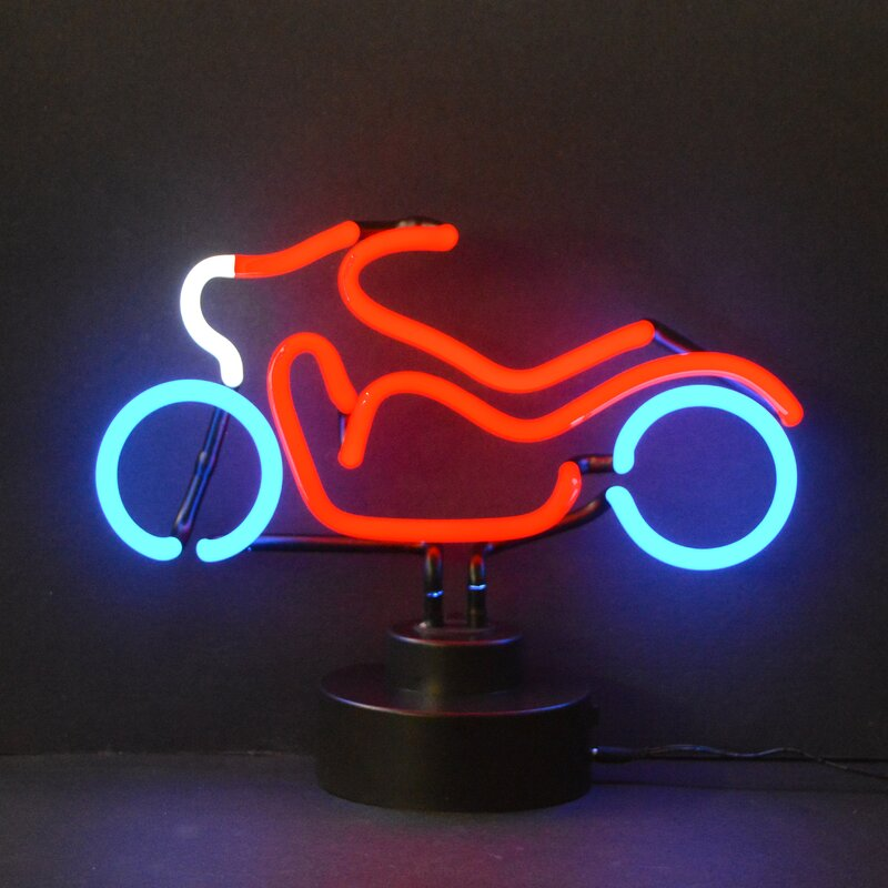 Neonetics cars motorcycles motorcycle neon sign reviews wayfair cars motorcycles motorcycle neon sign sciox Choice Image