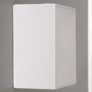 Wall lamp shades wayfair straight time rectangular wall sconce shade mozeypictures Image collections