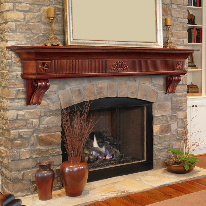 Pearl Mantels The Devonshire Fireplace Shelf Mantel Reviews Wayfair