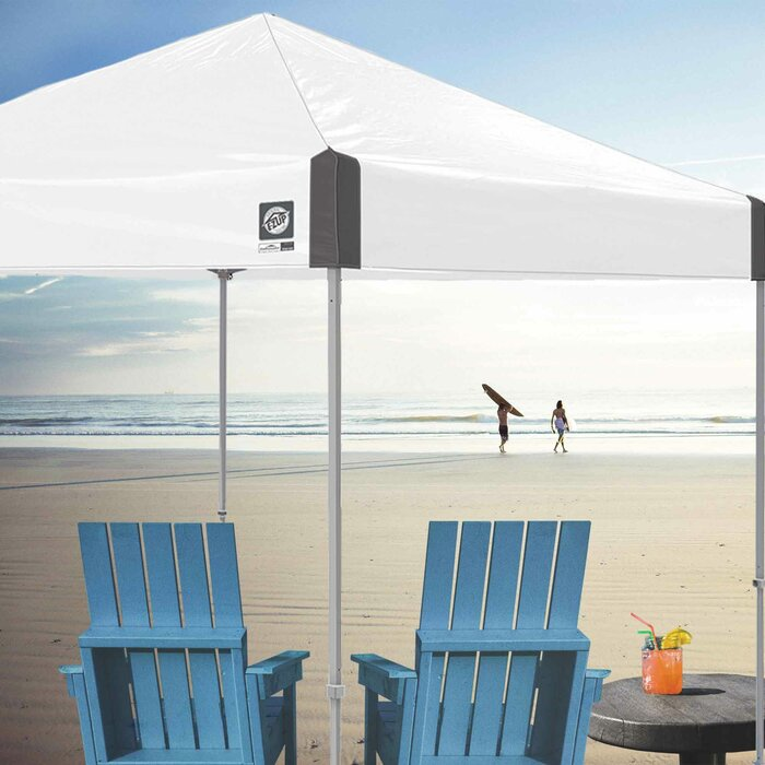 Ambassador Instant Shelter 10 Ft  W x 10 Ft  D Metal Pop-Up Canopy