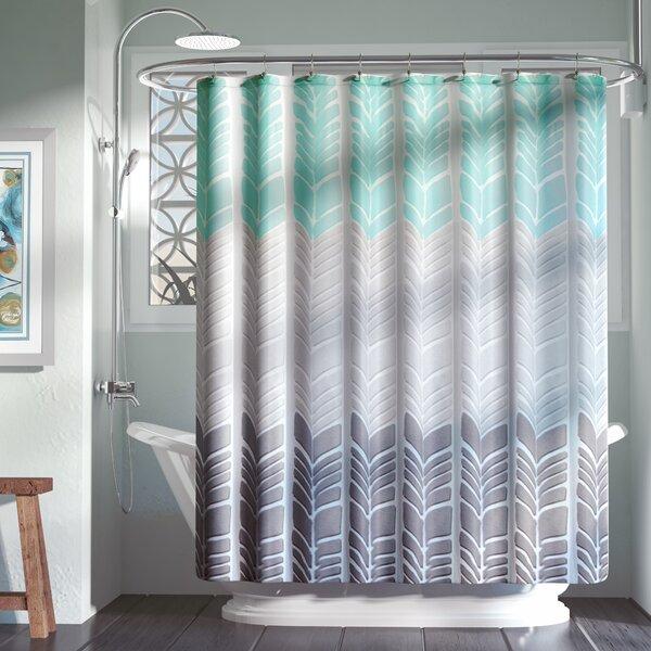 Zipcode Design Knarr Printed Shower Curtain & Reviews   Wayfair