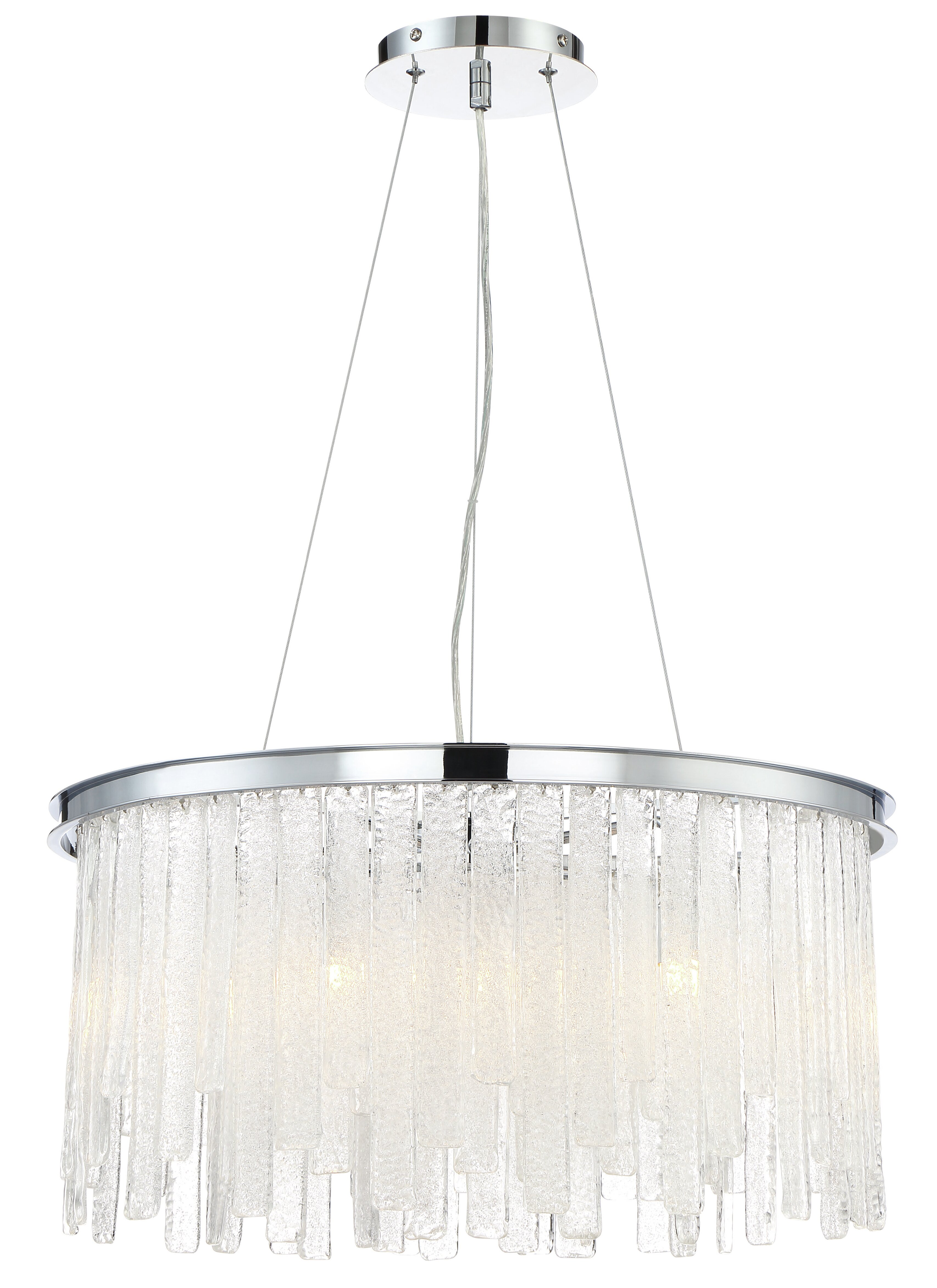 Orren Ellis Wanetta 10 Light Glass Crystal Drum Chandelier