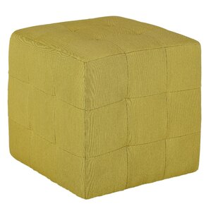 Braque Citron Cube Ottoman by Cortesi Home