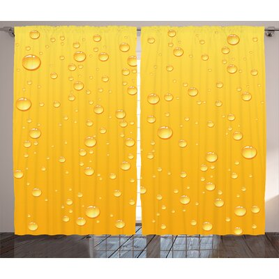 Clinkscales Yellow Ombre Background Like Beer In A Glass With Water Drops Graphic Art Prints