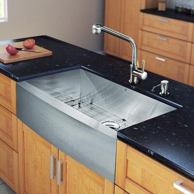 VIGO 36 inch Farmhouse Apron 16 Gauge Stainless Steel Kitchen Sink ...