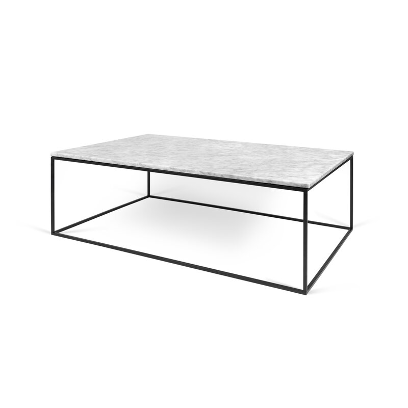 Temahome Gleam Black Marble Chrome Rectangle Coffee: Soltane Coffee Table & Reviews