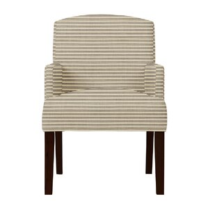 Larose Horizontal Stripes Arm Chair by Red Barrel Studio