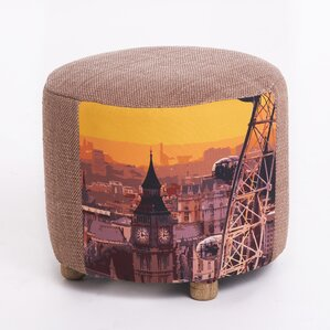 Walls Big Ben Design Ottoman by Latitude Run