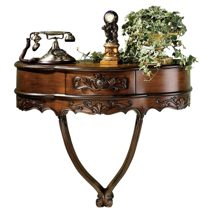 Wall Console Table design toscano camellia wall console table & reviews | wayfair