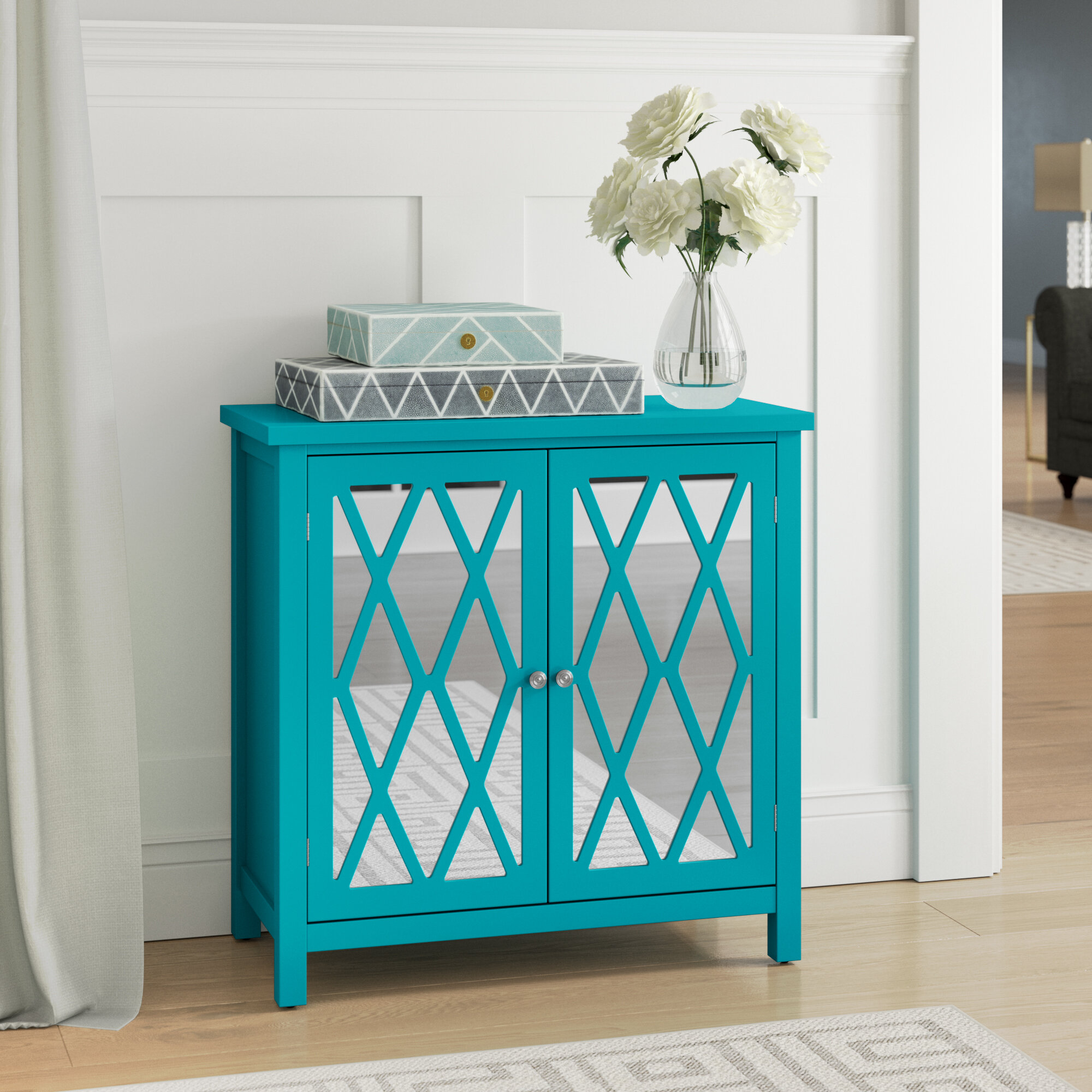 Willa Arlo Interiors Brinsmead 2 Door Accent Cabinet & Reviews | Wayfair