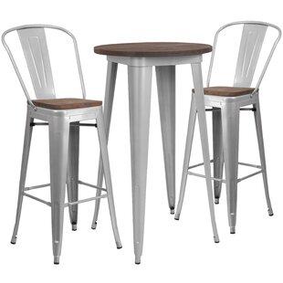 Priddy 3 Piece Pub Table Set