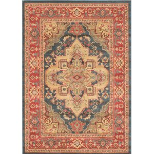 Ziegler Navy/Red Area Rug