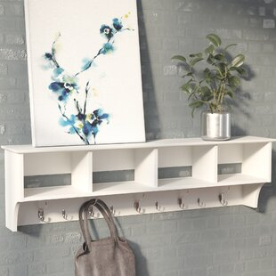 Entryway Shelf With Hooks | Wayfair