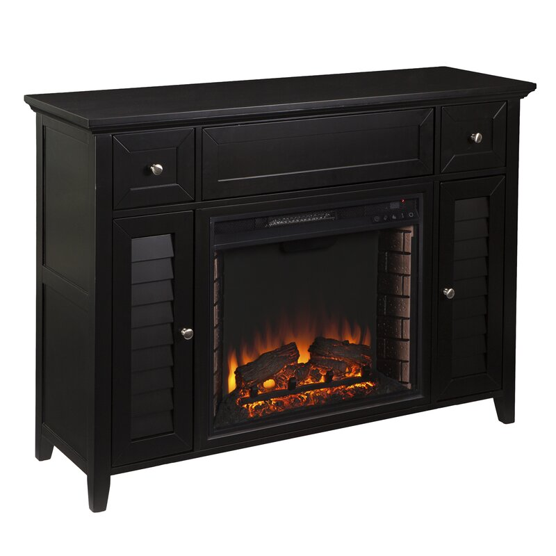 Cherrywood Entertainment Center With Electric Fireplace