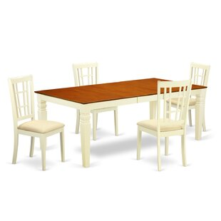 Beesley 5 Piece Buttermilk/Cherry Dining Set