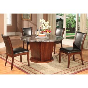 Artificial Marble 5 Piece Dining Set by Roundhill Furniture