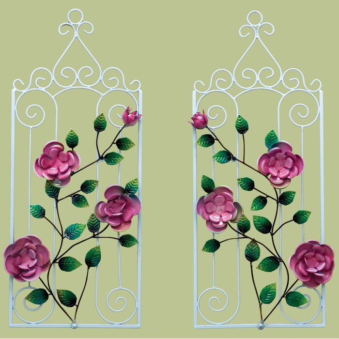 Modern Rose Wall Decor Ensign - Wall Art Collections ...