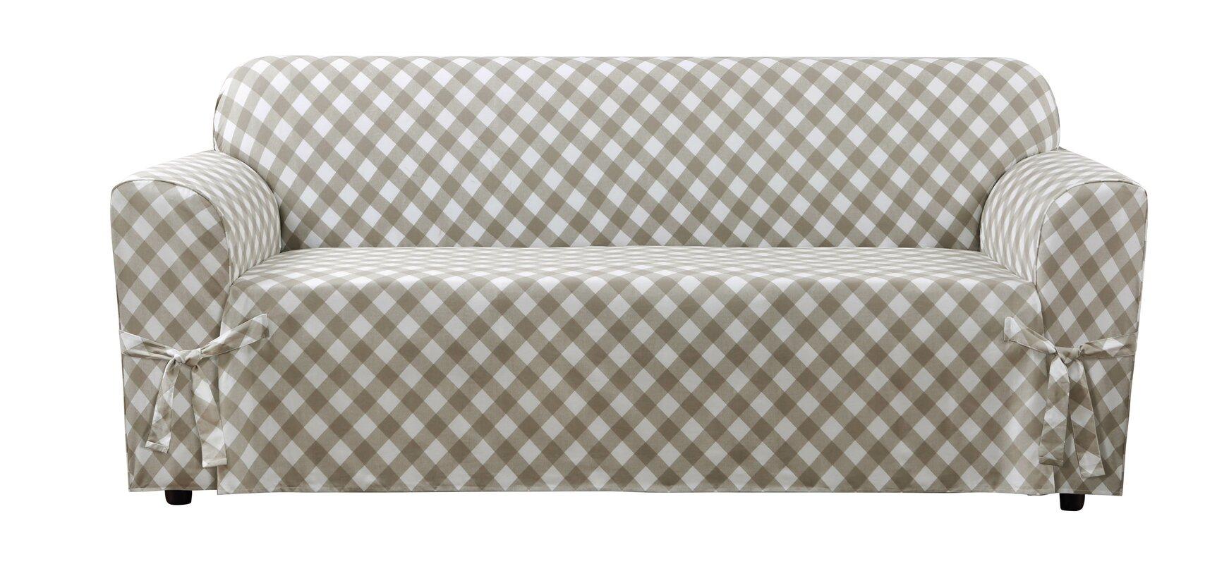 Buffalo Check Box Cushion Sofa Slipcover