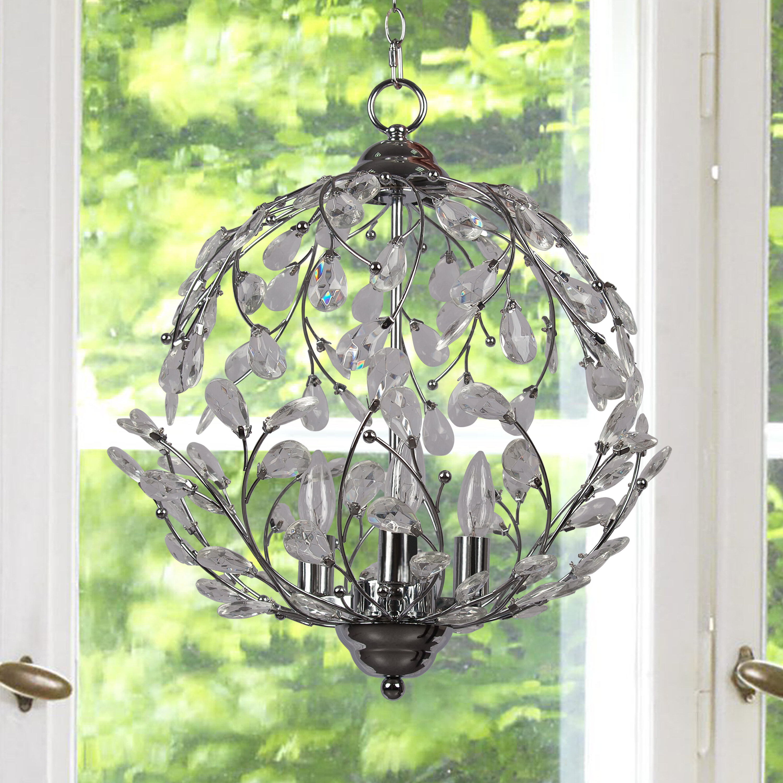 House of Hampton Meister 3-Light Globe Chandelier   Wayfair