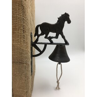 Running Horse Cast Iron Bell Door Chime