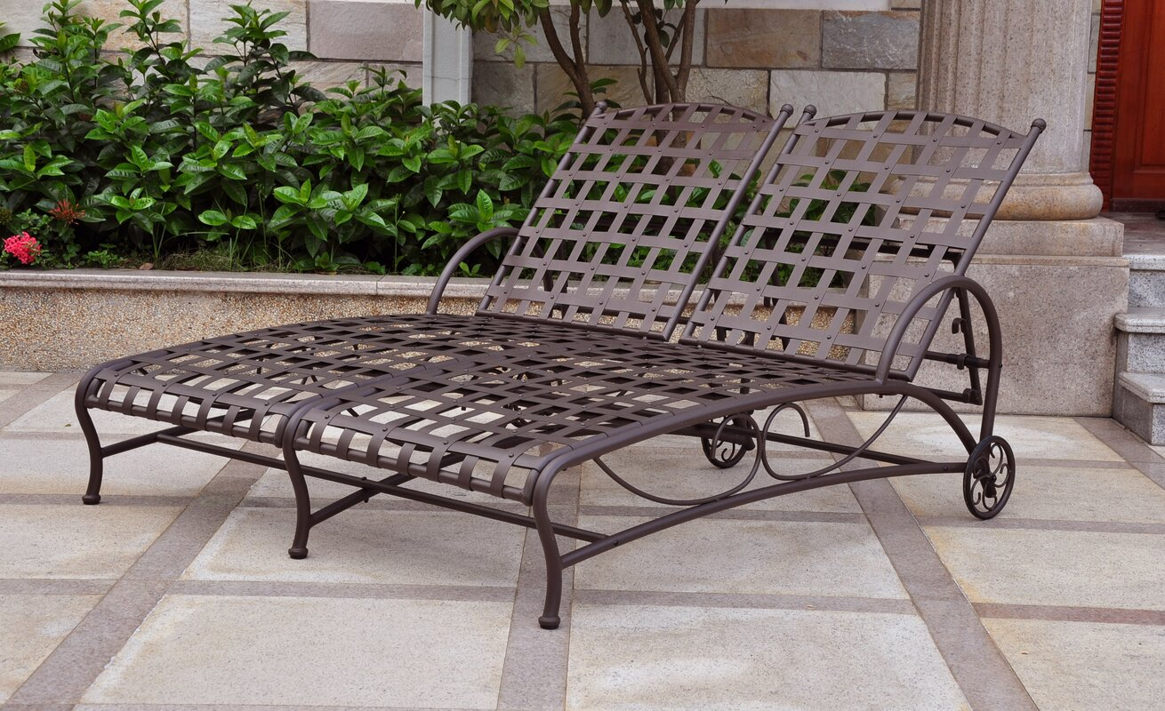 Schilling Double Patio Chaise Lounge
