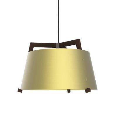 Ignis 3-light Drum Chandelier Cerno Finish: Oiled Walnut/brushed Brass