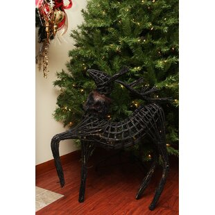 Wicker Walking Reindeer Christmas Decoration