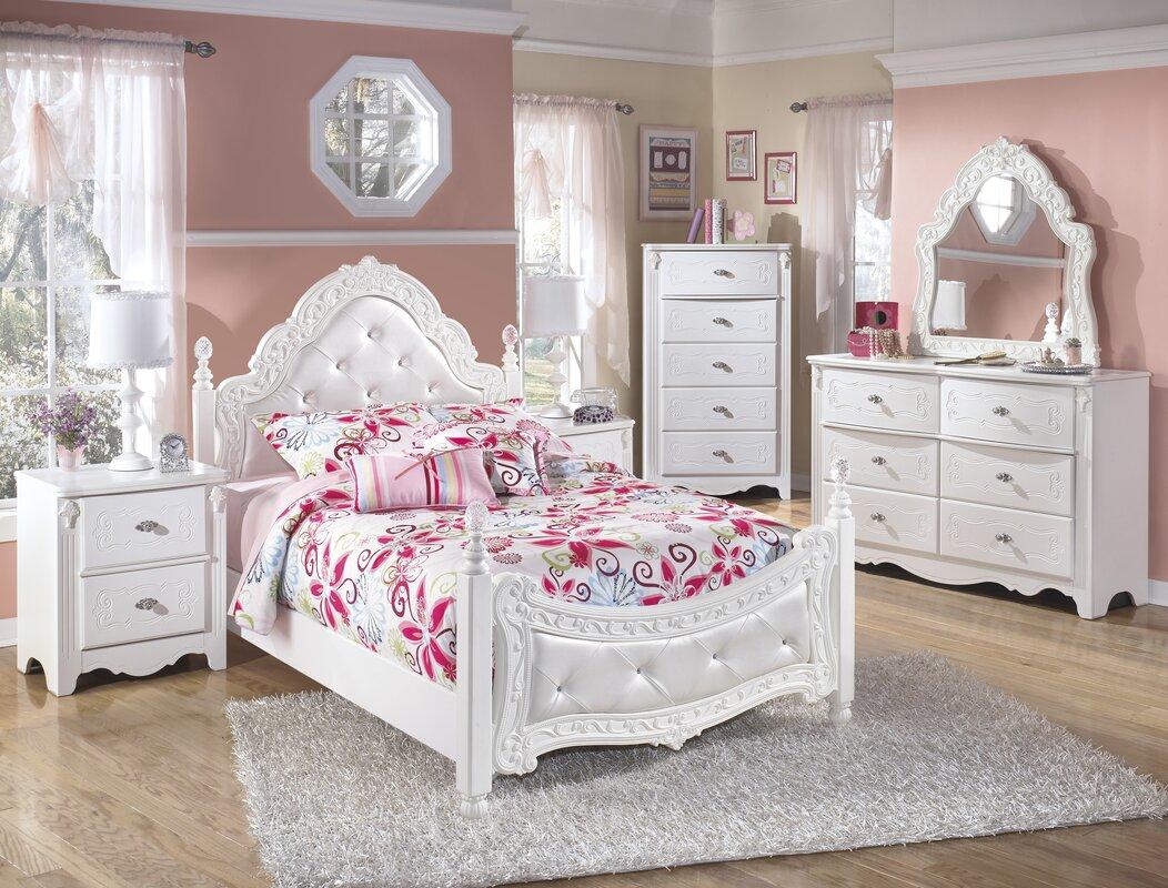 emma four poster configurable bedroom set & reviews | birch lane