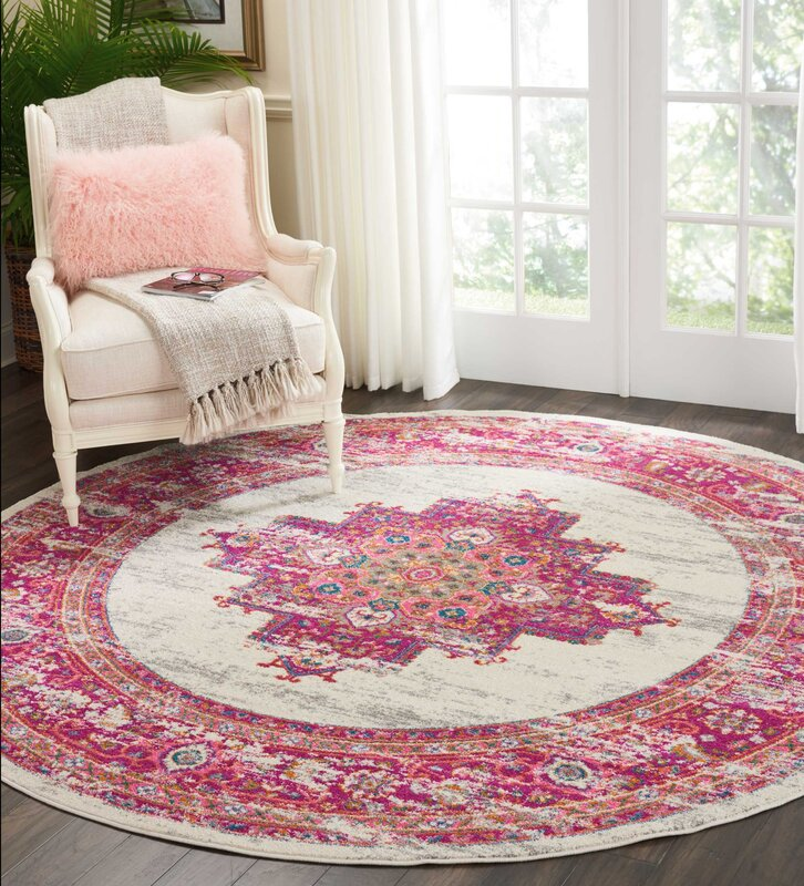 Dorset Ivory/Fuchsia Indoor Area Rug & Reviews | Joss & Main