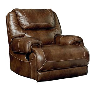 Applewood Power Rocker Leather Recliner  sc 1 st  Wayfair & Extra Large Leather Recliner | Wayfair islam-shia.org