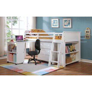 Webb Twin Low Loft Bed With Drawers And Shelf