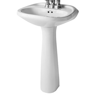 Save Mansfield Plumbing Products Verona Vitreous China Pedestal Bathroom Sink