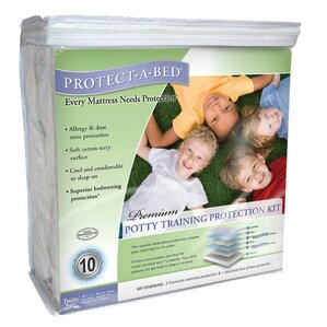 Premium Potty Training Hypoallergenic Waterproof Mattress Protector Kit by Protect-A-Bed