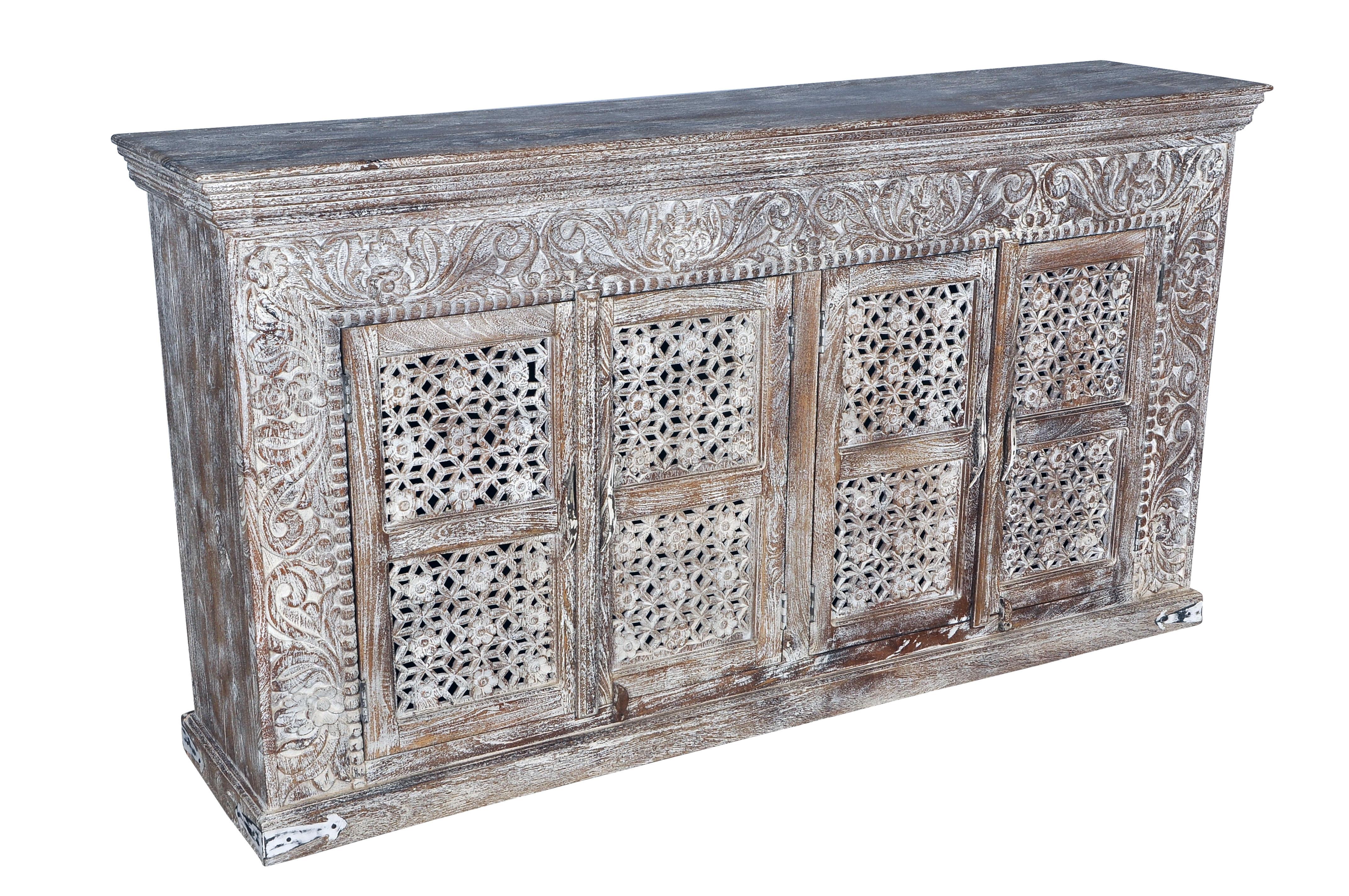 La Credenza Meaning : Bungalow rose aveliss carved 4 door sideboard wayfair