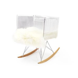 Brayden Studio Uresti Fluffy Rocking Chair Image